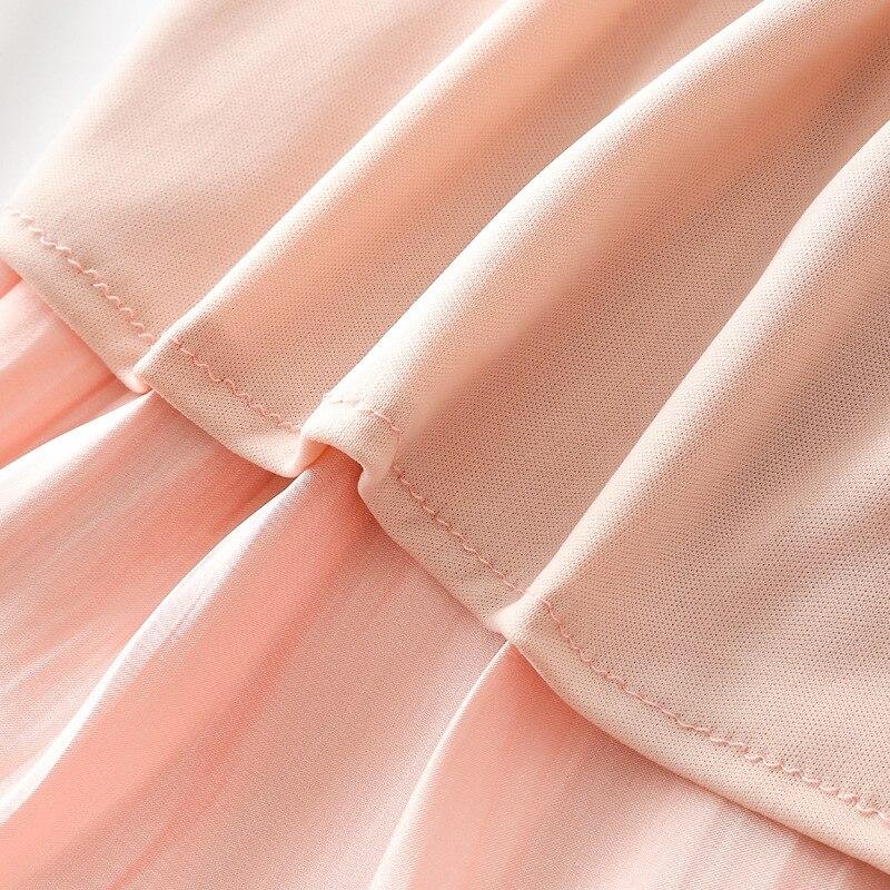 Mercerizing Texture Crimp Pleated Spring Xia Xinkuan Flash Of Light High Waist Half-body Leisurely Type Skirt 4