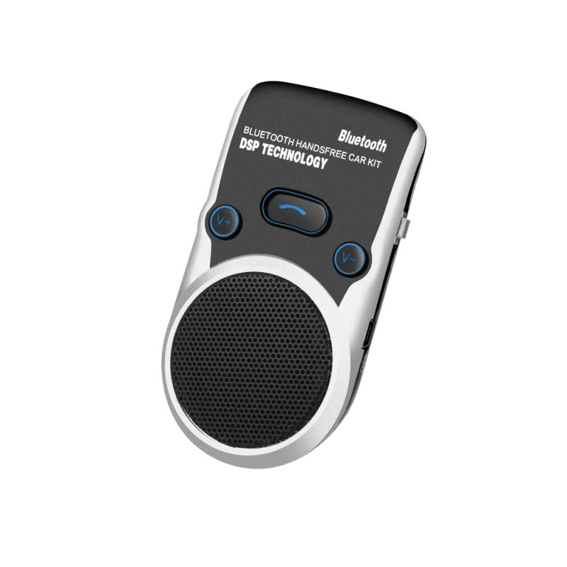 Solar Bluetooth speakerphone handsfree car kit Two phone connected Automatic answer Wireless safe call solar bluetooth v4 0 edr handsfree car kit