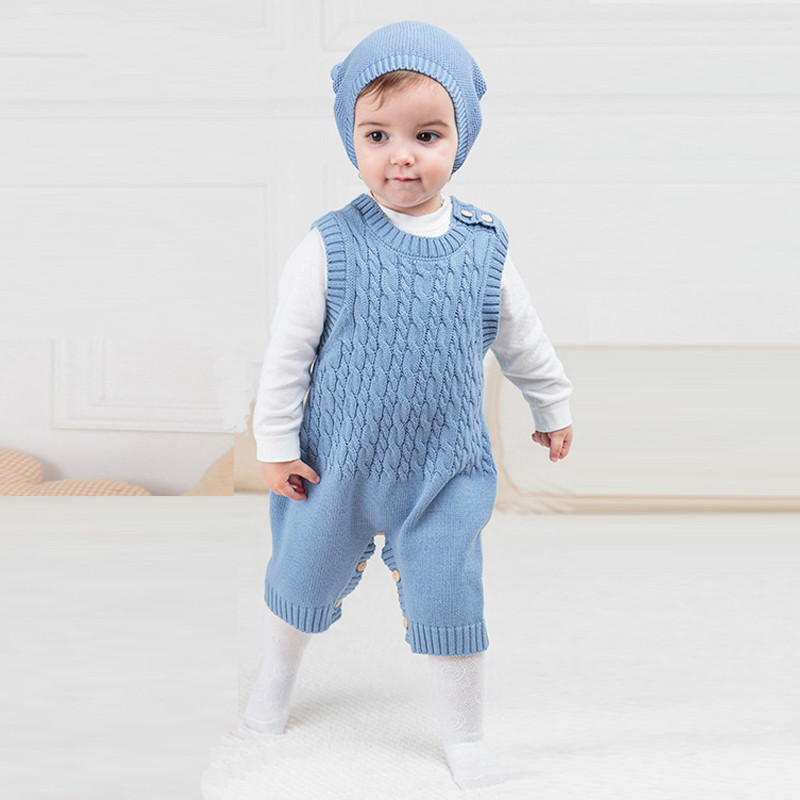 TBONTB Spring Autumn Cute Princess Baby Romper Newborn Baby Clothes Kids Girls Boys Sleeveless Jumpsuit Infant Knitted Rompers new baby rompers long sleeve coveralls cute v neck baby clothes solid cotton infant romper spring autumn boys girls jumpsuits