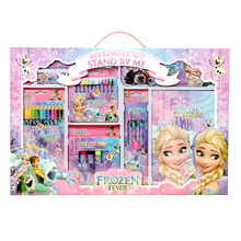 USA 8 Corp All Disney Frozen School Stationery Set Box Kindergarten Pencil Case Ruler Eraser School Supplies Birthday Gift Prizes Spree