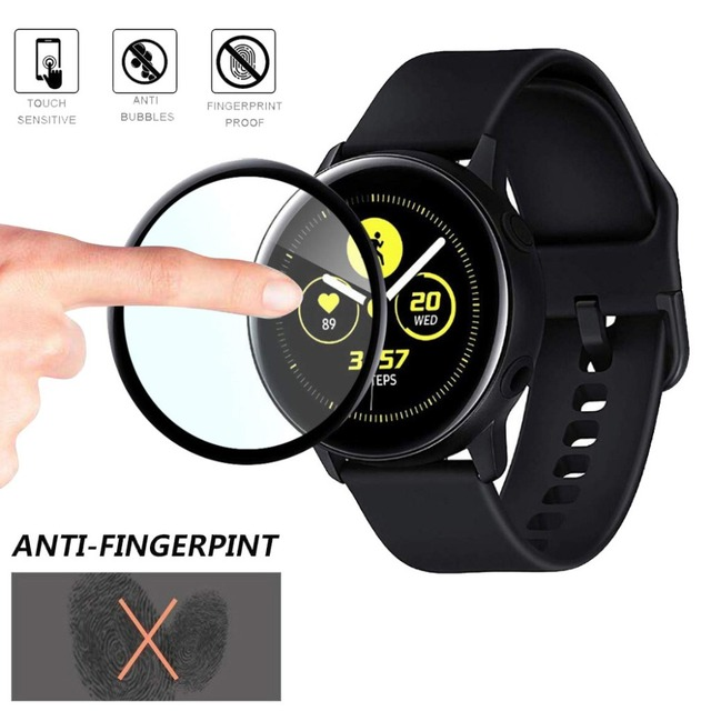 New Coverage Soft Fibre Glass Screen Protector for Samsung Galaxy Watch Active Smart watch film Glass