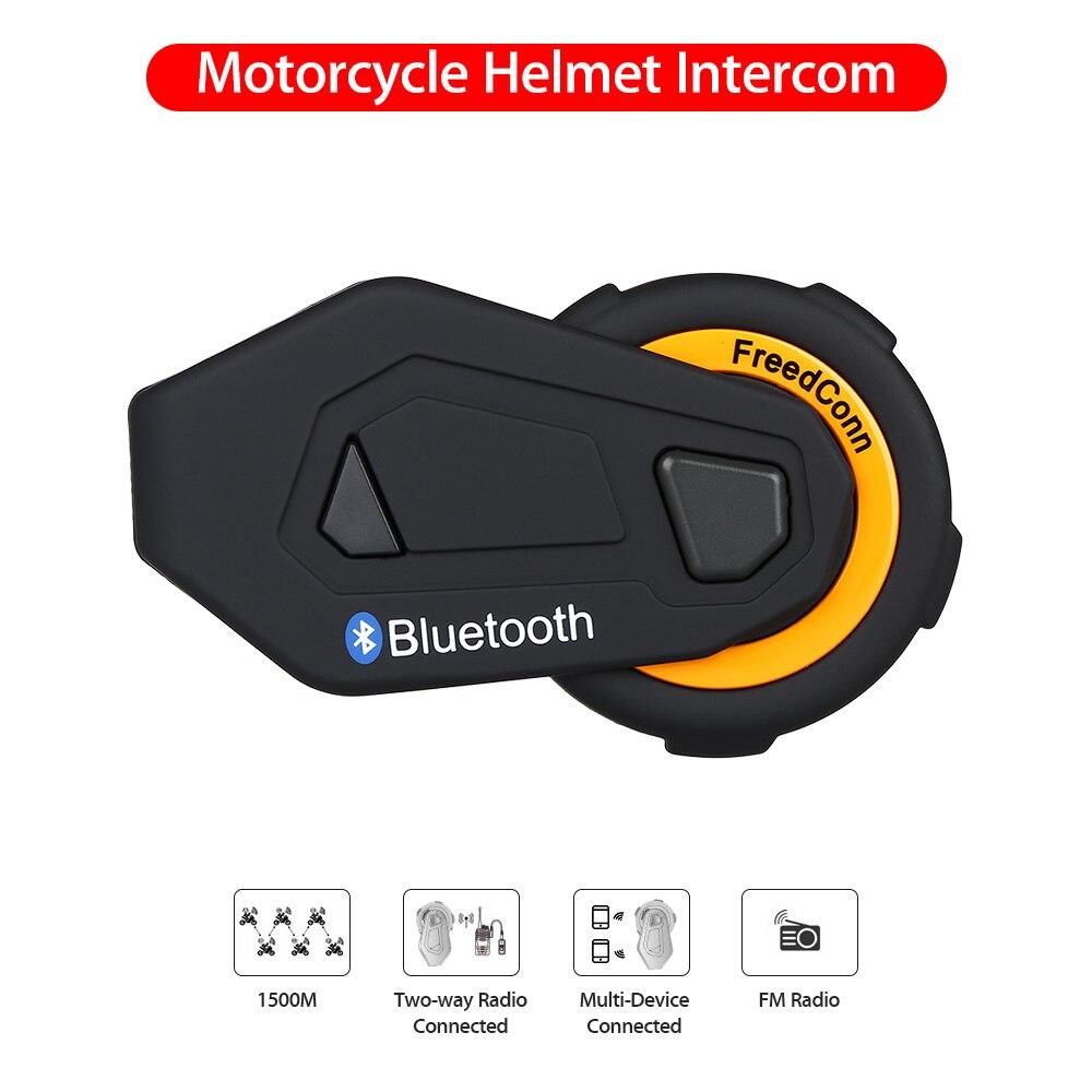 Système d'interphone de groupe de 6 coureurs d'interphone de moto d'interphone de Bluetooth de Duplex complet d'interphone de T-MAX avec la Radio FM