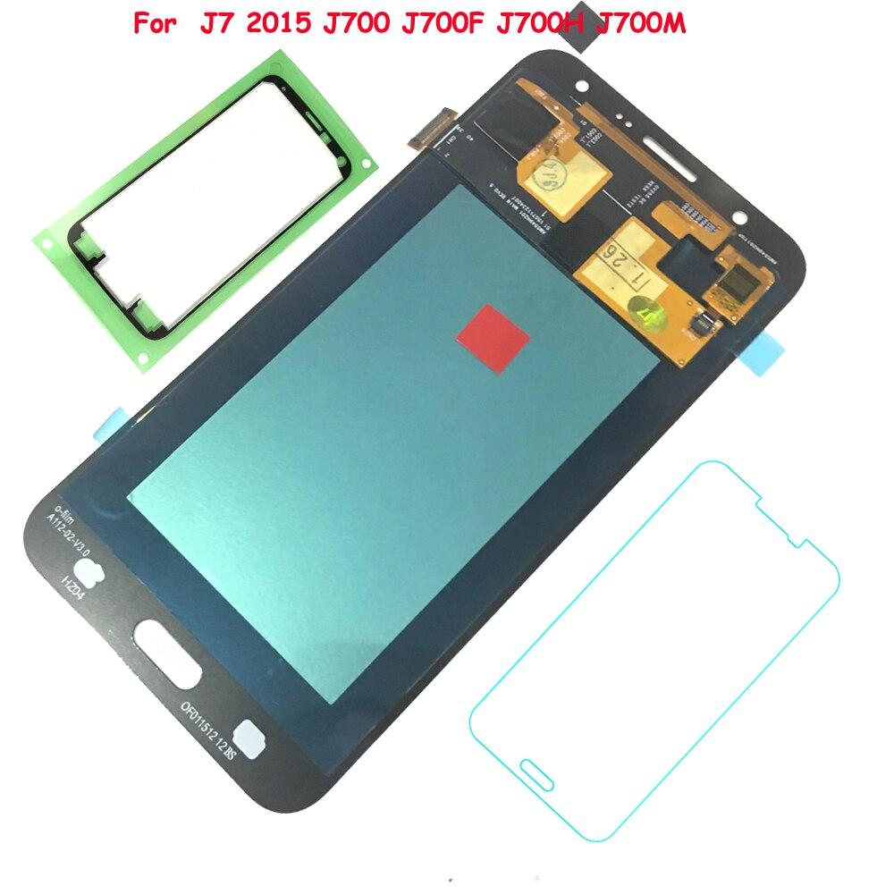 FIX2SAILING 100% рабочий AMOLED сборный сенсорный ЖК монитор для Samsung Galaxy J7 2015 j700 SM-J700F J700H J700M J700H/DS