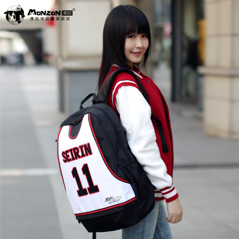 купить Kuroko's kuroko no basuke SEIRIN No.11 Japanese Anime Cosplay School Bag Casual Backpack Bags онлайн