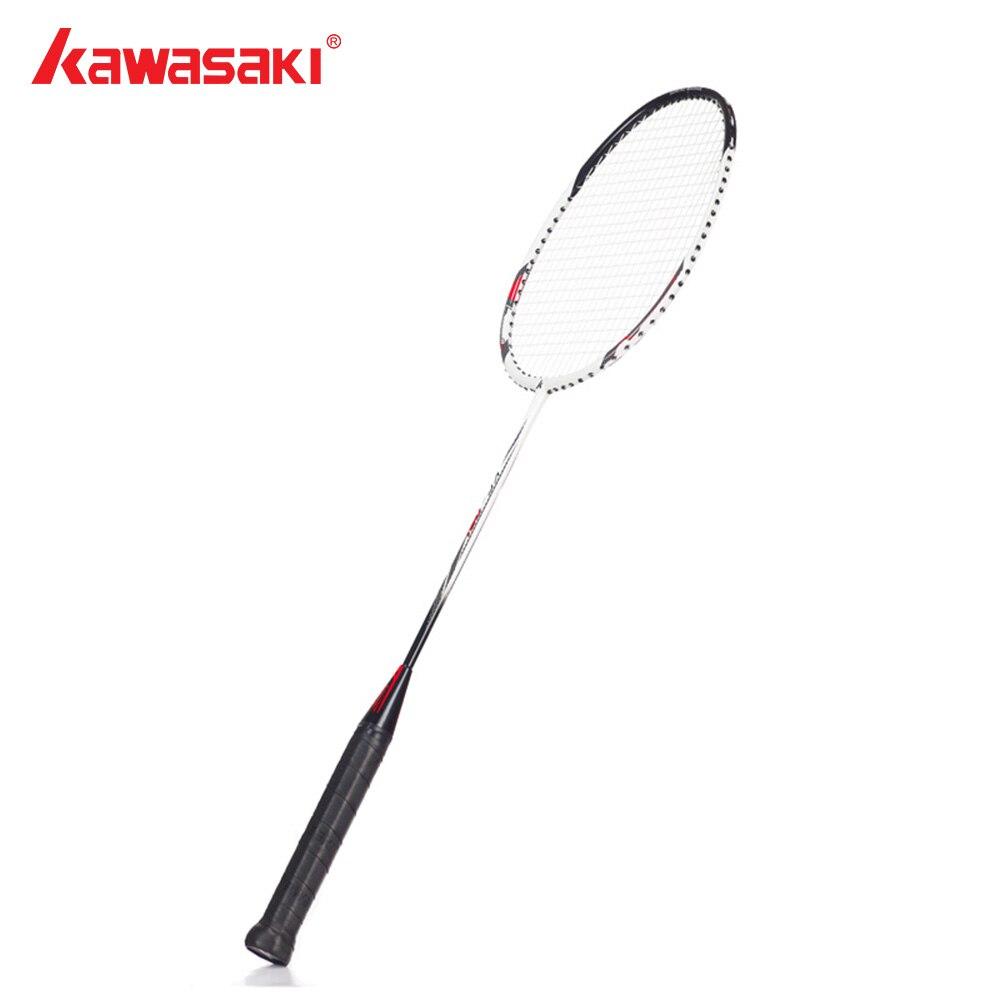 Kawasaki Brand Badminton Racket Carbon Rod Aluminum Alloy Frame Racquet Low Pound Tension Rackets For Beginners Player KC-081
