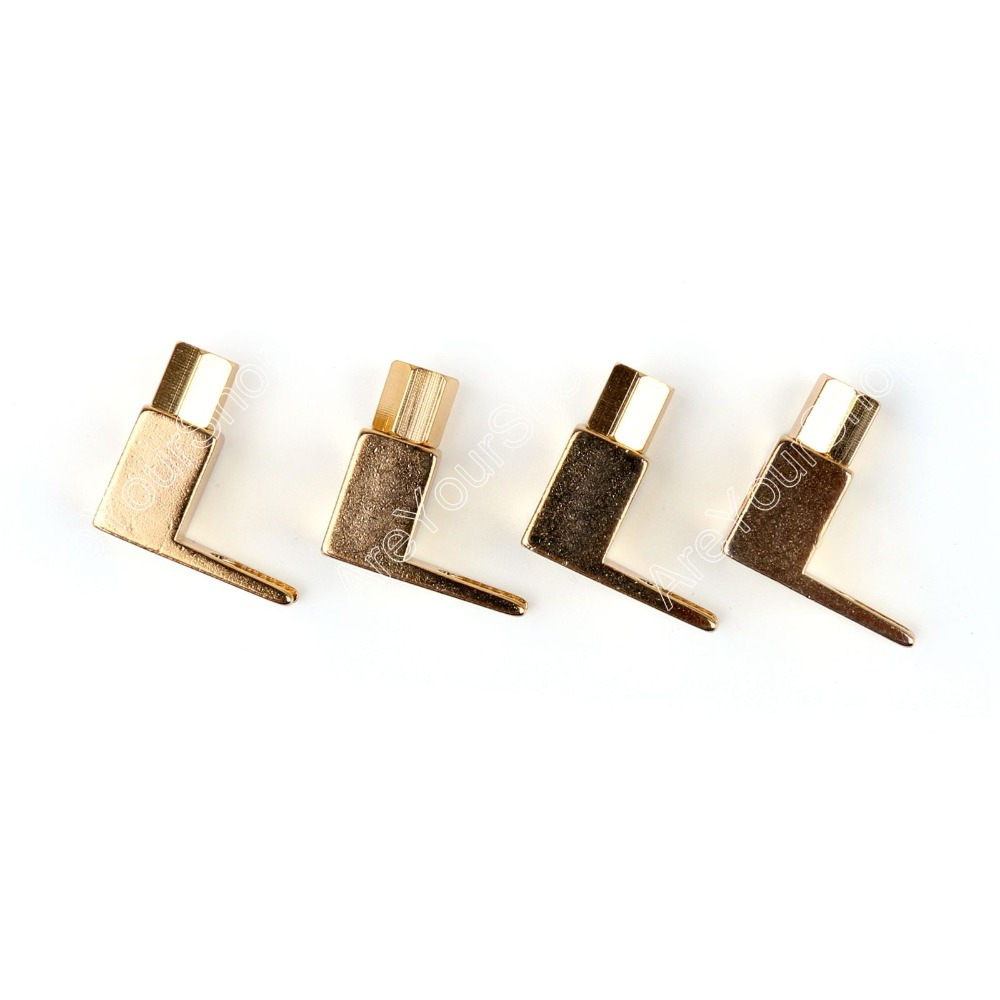 цены  Areyourshop High Quality 4 Pcs Brass Speaker Fork Terminal Spade For 4mm Banana Plug Adapter