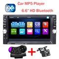 Nueva 2 Din Coche Reproductor de Vídeo 6.6 ''HD auriculares Bluetooth Estéreo Radio FM MP4 MP5 Audio USB Electrónica Automotriz volante autoradio 2din