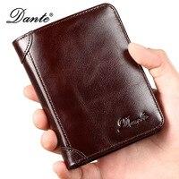 2018 DANTE Wallet Men S Short Business Driver S License Wallet Geunine Leather Men S Wallet