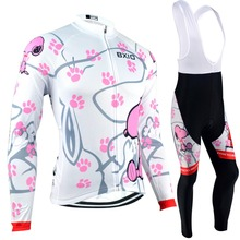 Bxio Women Cycling Jersey Warm Long Sleeves Invierno Ropa Ciclismo Mujer Mountain Bike Winter Thermal Fleece Cycling Clothes 021