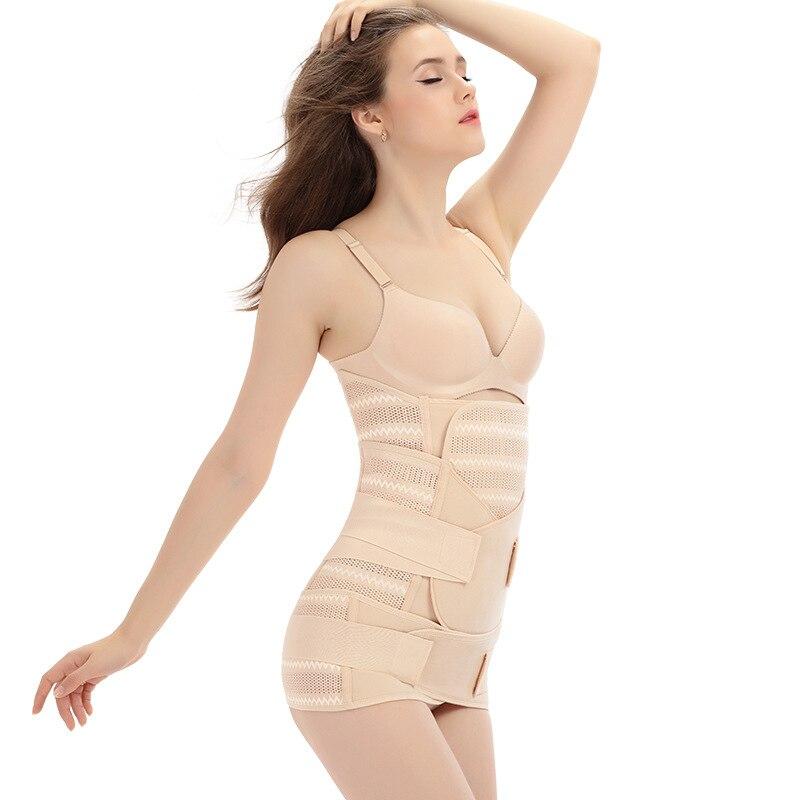 c6b131a327394 3 In 1 Postpartum Cummerbund Slimming Belt Body Shaper Corset Waist Trainer  Slim Underwear Waist Cincher Modeling Strap on Aliexpress.com