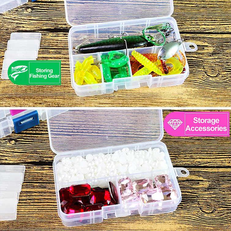 Venta caliente cajas de almacenamiento de joyería de plástico caja de embalaje ajustable caja organizadora accesorios cuentas 8 cuadrícula Dropshipping