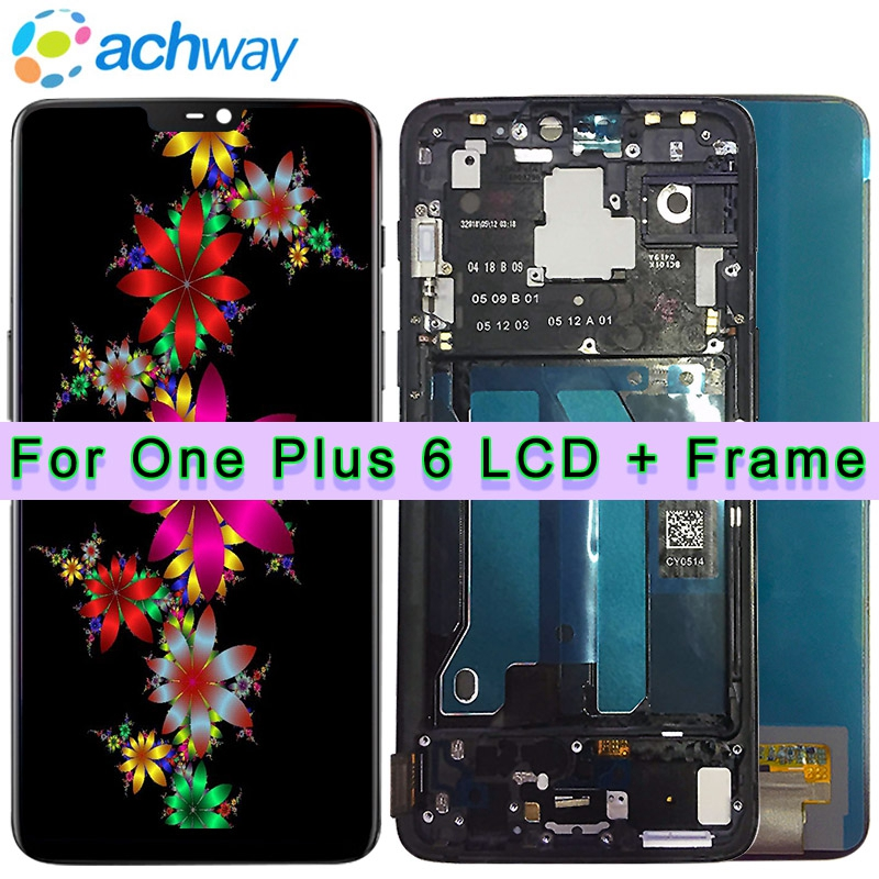 Oneplus 6 LCD Display Screen Touch Panel Assembly Original Tested One plus 6 LCD Display Digitizer