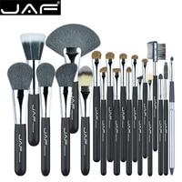 JAF Brand 20pcs Professional Brush for Makeup High Quality Natural Hair Cosmetic Set Eye Lash Blush Powder Large Fan Brushes