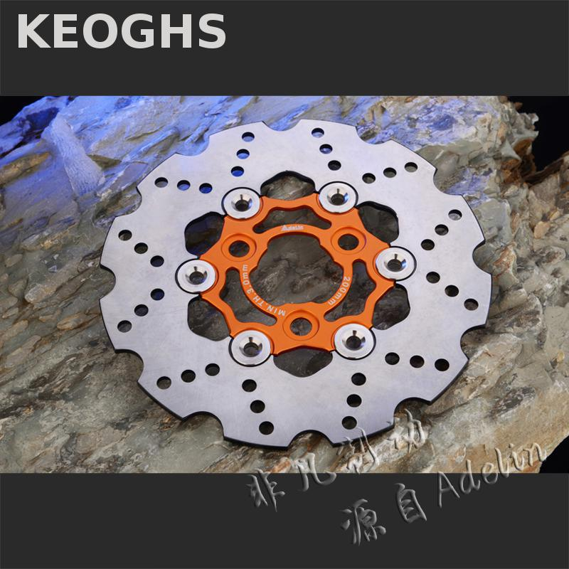 KEOGHS Motorcycle Brake Disc Floating 200mm Disc Cnc Aluminum Alloy Stainless Steel For Yamaha Rsz Jog Force Scooter Modified keoghs motorcycle floating brake disc 240mm diameter 5 holes for yamaha scooter