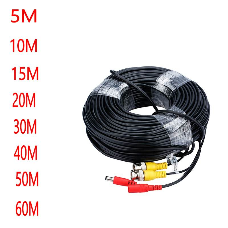 Video Power Cable BNC RCA Cord Wire For Security Camera System