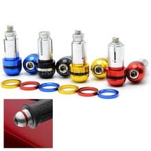 4 Colors Universal 22mm Handlebar End Steering Weight Motorcycle Bar Plug Slider Counterweight Handle Cap Handlebar Ends Cover