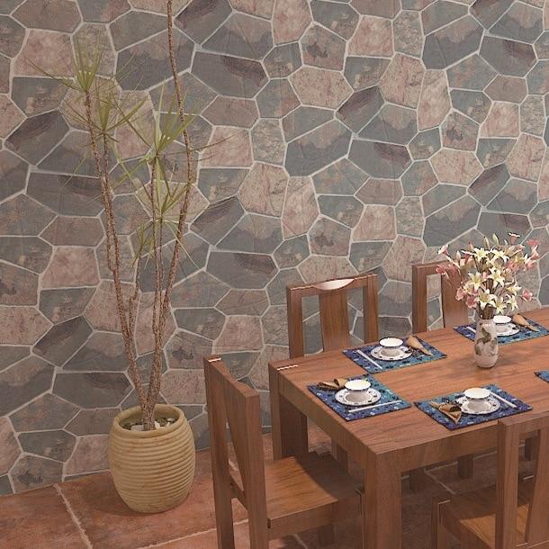 Papel tapiz de textura de piedra compra lotes baratos de for Papel imitacion piedra barato
