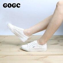 GOGC Design Shoes Women Luxury 2017 Breathable Summer Flats Women's Shoes Women Slipony Shoes with Hole Women's Vulcanize Shoes