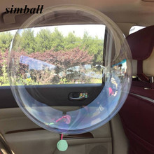 5pcs 18/24 inch No Wrinkle Bobo Transparent Clear Balloons Marriage Wedding Decor Helium Inflatable Balls Gifts Favor Wholesale(China)