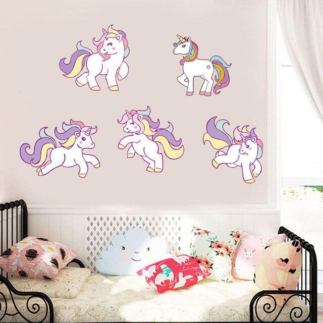 art home decor cartoon horse kid room boys girls wall sticker vinyl