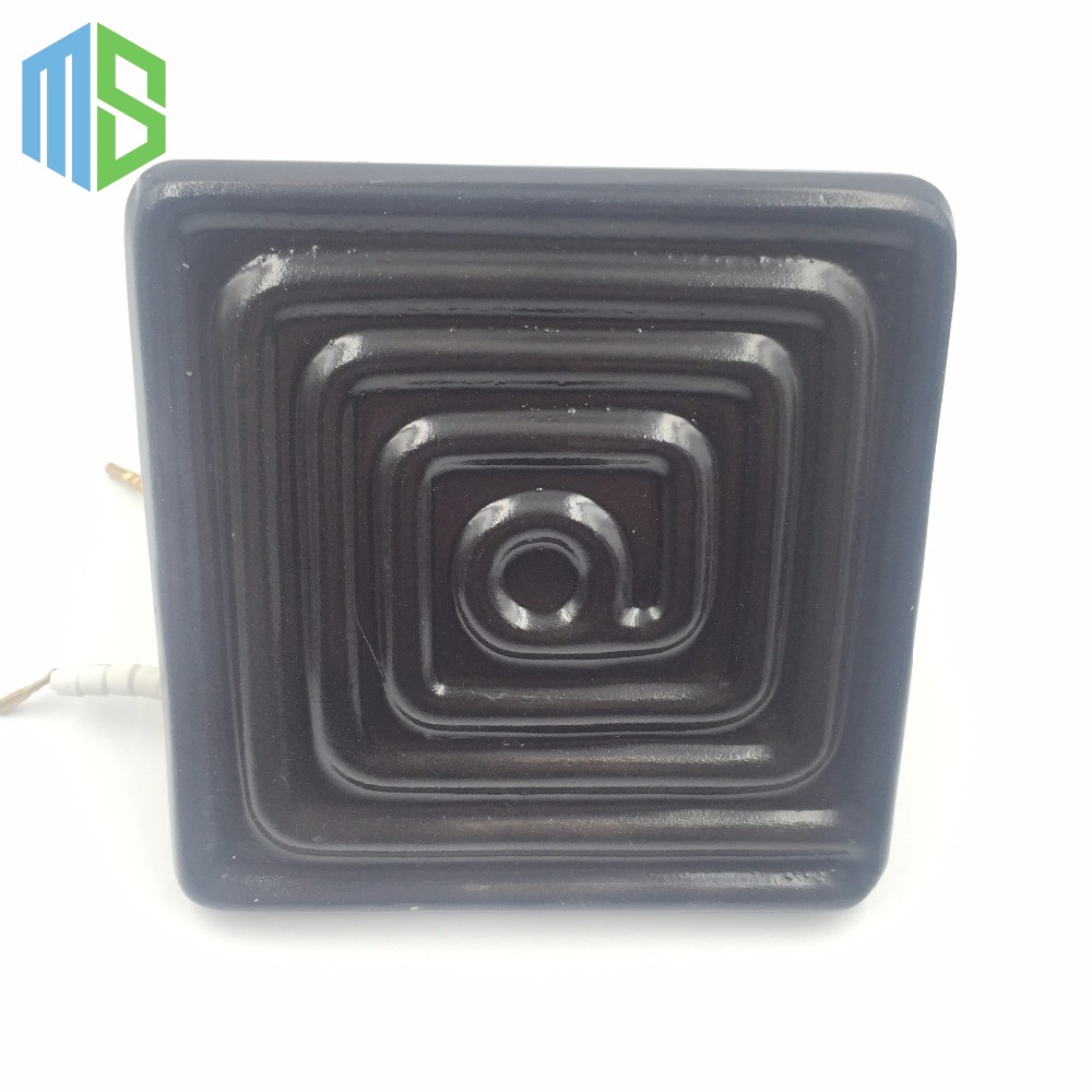 120*120mm Black/White 220V Flat IR Infrared Ceramic Heater Plate Air Heating Board Pad For BGA Station Mould With Metal Clip pet heating light bulb e27 infrared ceramic emitter heating lamp bulb 25 150w 80mm for reptile pet brooder white black 110 220v