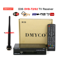 DVB T2 S2 Combo Sat Decoder+USB wifi D3S Satellite Receiver IKS PAL / NTS Youtube Biss Vu AC3 Terrestrial Satellite Combo TV Box