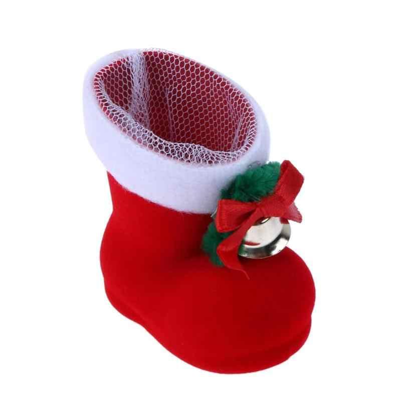 Feliz Navidad Mini botas de caramelo zapatos de regalo decoración de árbol decoraciones de Navidad para el hogar Navidad medias decoración de Año Nuevo