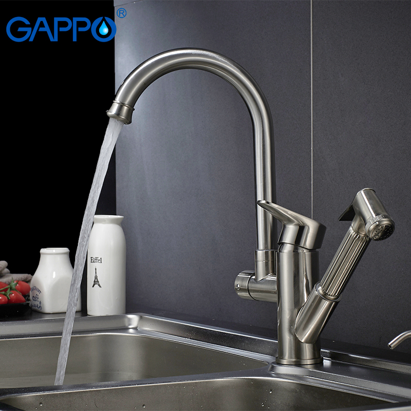 Gappo Kitchen Faucets Sink Mixer Tap Rotatable Sink Water Mixer Kitchen Water Waterfall Faucet Kitchen Pull Out Faucet