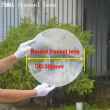 Поставка с фабрики 300 мм круглые точечные линзы Френеля, pmma линзы Френеля, arcylic линзы Френеля