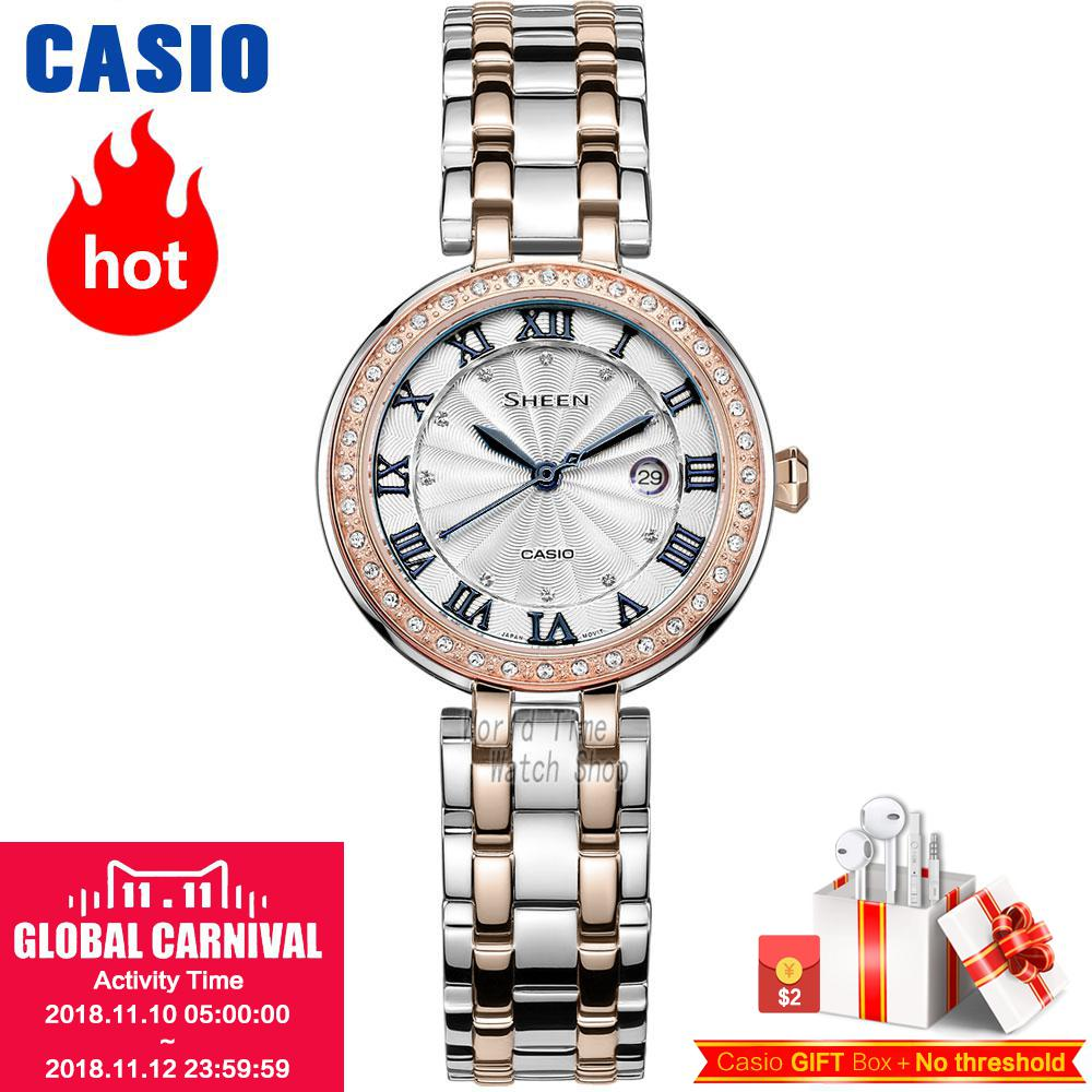 Casio watch Fashion elegant ladies ladies watch SHE-4034BSG-7A SHE-4034BSG-7B SHE-4034D-7A casio she 4022d 7a