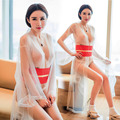 New Porn Women Kimono Sexy Transparent Erotic Bridal Lingerie Elastic Women Sexy Nighty Mesh Teddy Lingerie