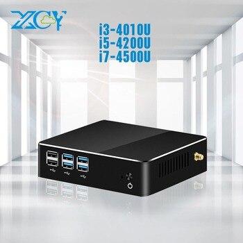 XCY мини-ПК Core i3 4010U i5 4200U i7 4500U Barebone pc HTPC HDMI Wifi usb офисные windows pc Настольный Мини компьютер