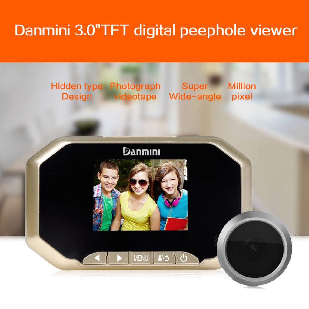 Daminin 3 inch Color Screen 2.0 PM HD Digital Peephole Viewer 140 Degrees Doorbell Camera Door Eye For Home Security