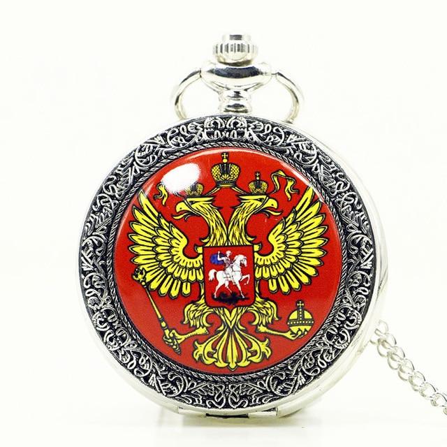 Uhren Gewidmet Vintage Silber Doppel Phoenix Flügel Emaille Mode Quarz Flip Uhr Männer Cowboy Kette Tasche Uhren Pb609