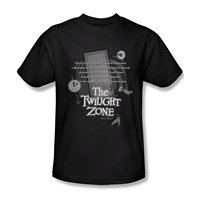Gildan Fashion Men T Shirts Round Neck Opening Monologue The Twilight Zone Adult T Shirt
