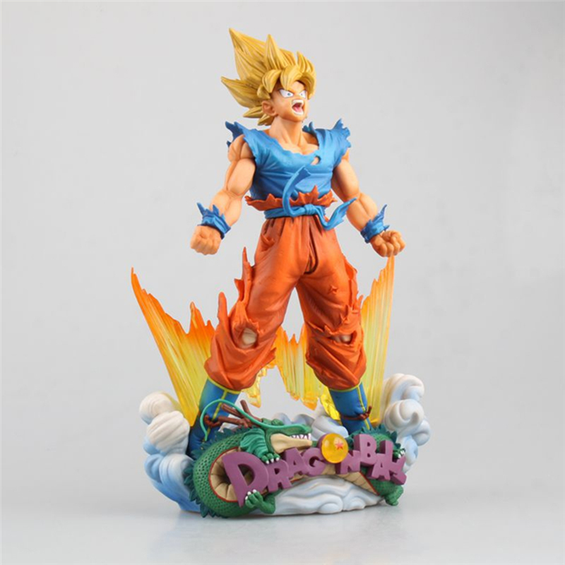 Animation Dragon Ball Z Super Saiyan Goku PVC Action Figure SMSD DragonBall The Son Goku Brush Ver. Collection Model Toys