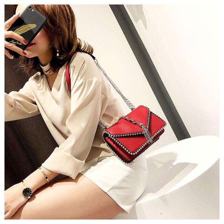ombro feminina pequena bolsa sólida aleta crossbody