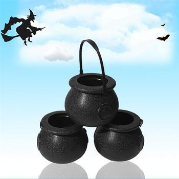 10 Stuks Snoep Emmer Halloween Party Gunst Truc Of Behandelen Witchs Cauldron Snoep Houder Snoep Emmer Met Handvat Voor Kinderen Kinderen