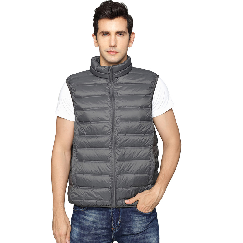 2018 NEW Designed Man Duck Down Vest Ultra Light Jackets Seamless Vest Men Sleeveless Outerwear Autumn Winter Weightless Coat