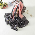 180*90cm Classic Fashion Eagle High-quality Pure Silk Sun Shawl Fashion Beach Temperament Scarf Womens Foulard Mousseline Autumn