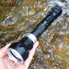 YUPARD XM-L2 LED T6 LED underwater diver flashlight torch waterproof rechargeable 18650 camping hunting fishing diving light 100% waterproof ip67 diving flashlight xml t6 led 10w underwater torch 18650 led diver flash light with rope and wristband 8023