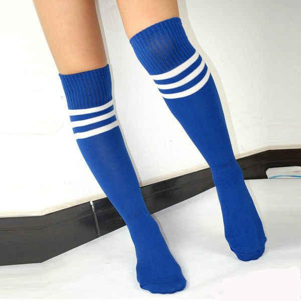 a880f7999 New Cool Soccer Baby Knee High Spokrt Soccer Football Socks Tube Stockings  Women Men Striped Soprt