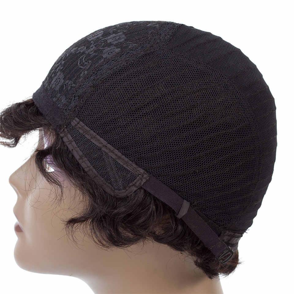 Короткие парики Софи Боба для черных женщин, не Реми прямые человеческие волосы парик 4 дюйма 100% человеческих волос машина не пахнет H. NINA парики