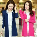 Moda mujer chaqueta de manga larga chaqueta de punto suéteres de color caramelo para para envío gratis WL2329