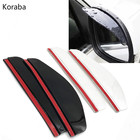2Pcs Flexible Car Rear View Mirror Cover Anti Rain Visor Snow Guard Weather Shield Sun Shade Cover Rearview Auto Accessories
