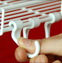Multi Purpose Plastic S Shaped Hook Pack of 10 Pieces Shape Clothing Baskets Hanger