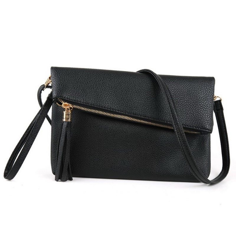Women Shoulder Bags Small Crossbody Bag For Women Handbags PU Leather Tassel Bolsos Feminina Black Brown Messenger Bags vintage punk tassel shoulder bags pu leather handbags women messenger bag casual tote bag small crossbody bags
