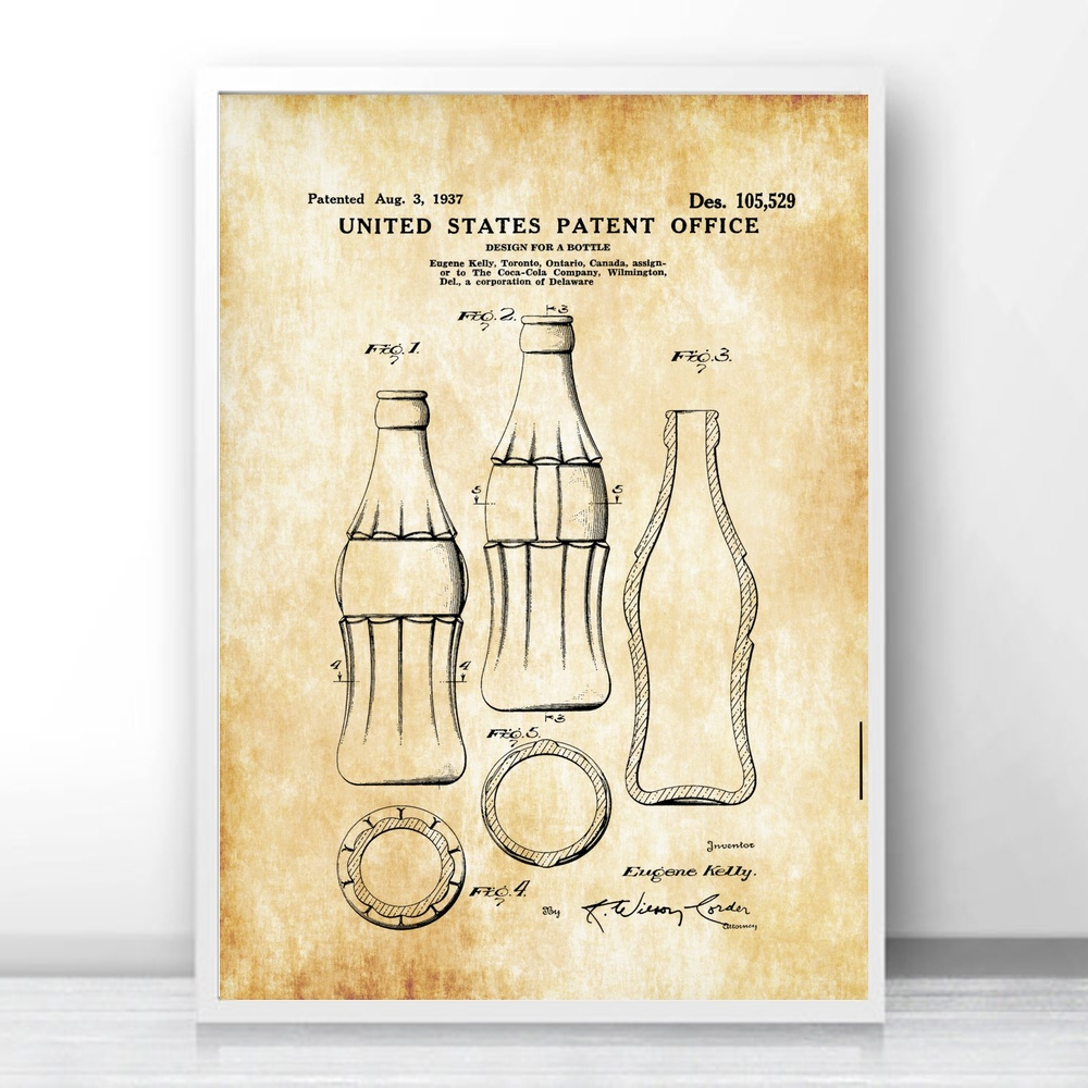 The Best Coke Kitchen Art Silk Fabric Poster Prints Home Wall Decor ...