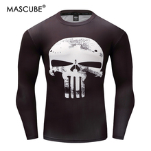 MASCUBE 2017 Men Summer T Shirt 3D Super Hero Punisher Bodybuilding Fitness Comfortable Top Male Cub Jersey Hot Clothing