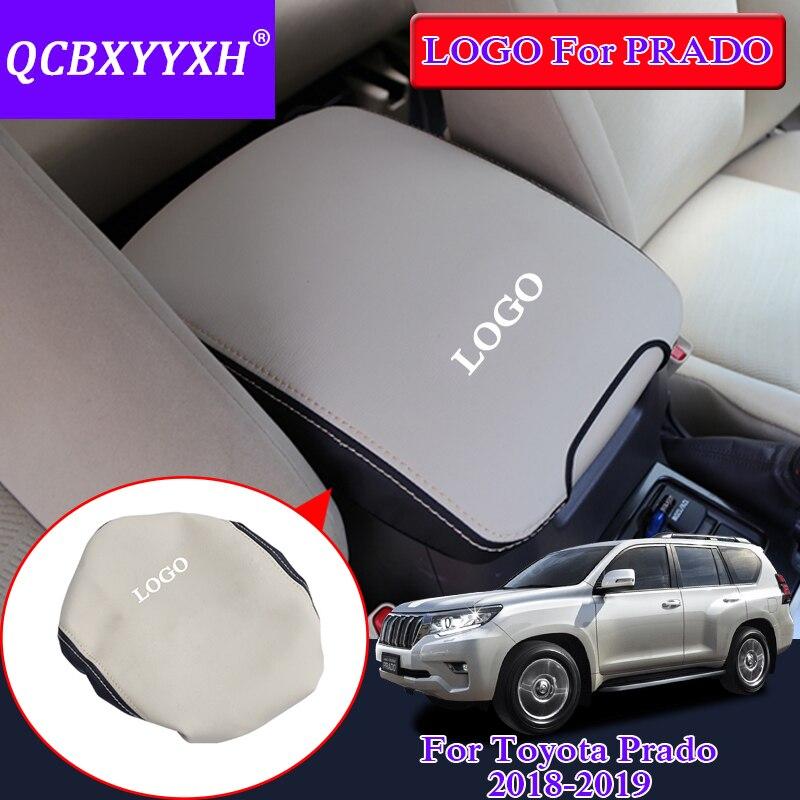 QCBXYYXH Pour Toyota Prado 2018 Voiture Accoudoir Pad Cover Center Console Auto Accoudoirs Boîte Cuir des Garnitures De Stockage Protection Coussin